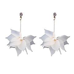 preiswerte Ohrringe-Damen Kristall Lang Tropfen-Ohrringe - Krystall Blumen / Botanik, Blattform, Blume Ethnisch Gelb / Grün / Blau Für Party / Alltag