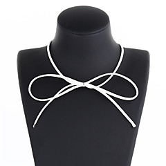 preiswerte Halsketten-Damen Mädchen Halsketten - Schleife damas, Süß lieblich Weiß, Braun Modische Halsketten Schmuck Für Alltag, Schultaschen