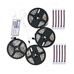 お買い得  LED ストリングライト-ZDM® 20m ライトセット 600 LED 5050 SMD 4x 5M LEDストリップライト / 1 44キーリモコン / 1x 1〜4ケーブルコネクタ RGB カット可能 / ノンテープ・タイプ 12 V 1セット