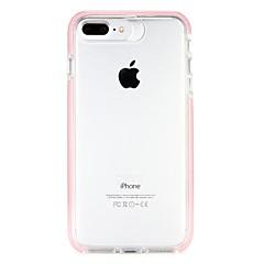 voordelige iPhone-hoesjes-hoesje Voor Apple iPhone 6 iPhone 7 Doorzichtig Achterkant Effen Kleur Transparant Hard PC voor iPhone 7 Plus iPhone 7 iPhone 6s Plus