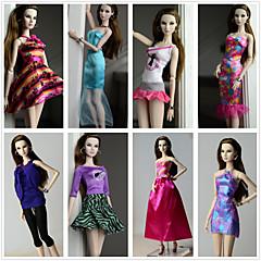 abordables Ropa para Barbies-Princesa Disfraces por Muñeca Barbie  Poliéster Vestido por Chica de muñeca de juguete