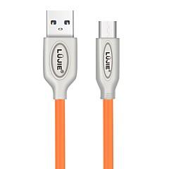 hesapli Kablolar ve Adaptörler-LUJIE Micro USB 2.0 Kablo, Micro USB 2.0 to USB 2.0 Kablo Erkek - Erkek <1m/3ft 480 Mbps