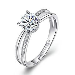 billige Ringer-Dame Kubisk Zirkonium Statement Ring - Legering Enkel Justerbar Sølv Til Bryllup / Engasjement