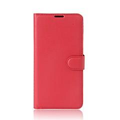 voordelige Hoesjes / covers voor Xiaomi-hoesje Voor Xiaomi Kaarthouder Portemonnee met standaard Flip Volledig hoesje Effen Kleur Hard PU-nahka voor Xiaomi A1