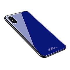 Недорогие Кейсы для iPhone 7 Plus-Кейс для Назначение Apple iPhone X iPhone 8 Зеркальная поверхность Задняя крышка Сплошной цвет Твердый Силикон для iPhone X iPhone 8