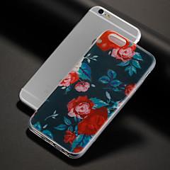 Недорогие Кейсы для iPhone 4s / 4-Кейс для Назначение Apple iPhone X iPhone 8 iPhone 8 Plus С узором Кейс на заднюю панель Цветы Мягкий ТПУ для iPhone X iPhone 8 Pluss