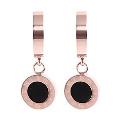 preiswerte Ohrringe-Damen Tropfen-Ohrringe - Edelstahl Koreanisch Rotgold Für Alltag