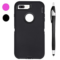 abordables Fundas para iPhone 5c-Funda Para Apple iPhone X iPhone 8 Plus Antigolpes Agua / Polvo / prueba del choque con Ventana Funda de Cuerpo Entero Color sólido Suave