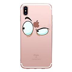 abordables Ahorros Sugerentes-Funda Para Apple iPhone X / iPhone 8 Transparente / Diseños Funda Trasera Caricatura Suave TPU para iPhone X / iPhone 8 Plus / iPhone 8