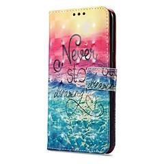 お買い得  その他のケース-ケース 用途 OnePlus OnePlus 5T 5 カードホルダー ウォレット スタンド付き フリップ 磁石バックル パターン フルボディーケース 風景 ハード PUレザー のために One Plus 5 OnePlus 5T