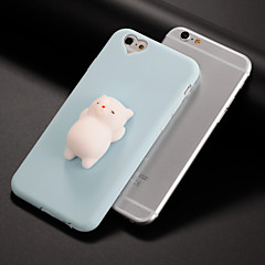 billige Etuier til iPhone 7-Etui Til Apple GDS squishy Bagcover Kat 3D-tegneseriefigur Blødt Silikone for iPhone X iPhone 8 Plus iPhone 8 iPhone 7 Plus iPhone 7
