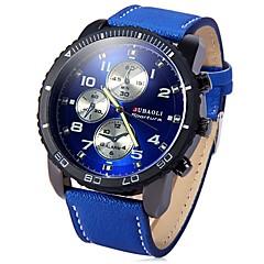 preiswerte Tolle Angebote auf Uhren-JUBAOLI Herrn Armbanduhr Quartz Cool Großes Ziffernblatt Edelstahl Band Analog Schwarz / Blau / Rot - Schwarz Dunkelblau Rot
