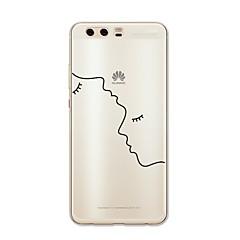お買い得  Huawei Pシリーズケース/ カバー-ケース 用途 Huawei社P9 Huawei社P9ライト Huawei社P8 Huawei Huawei社P9プラス Huawei P7 Huawei社P8ライト P10 Plus P10 Lite パターン バックカバー ライン/ウェイブ ハート セクシーレディ ソフト