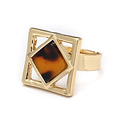 cheap Rings-Women's Onyx Agate / Alloy Cuff Ring - Geometric Simple / Fashion / Korean Gold Ring For Daily