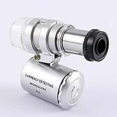 abordables Material de Oficina-Luces de la lámpara del microscopio Luces del yanchao Bolsillo portátil con lupa de la lámpara