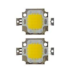 20w cob 1600lm 3000-3200k / 6000-6200k ζεστό λευκό / λευκό φως led τσιπ dc30-36v 2pcs