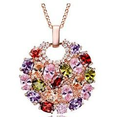 お買い得  ネックレス-女性用 クリスタル ペンダントネックレス  -  クラシック, ファッション ゴールド ネックレス 用途 日常