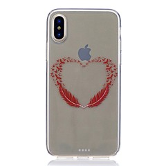 Недорогие Кейсы для iPhone X-Кейс для Назначение Apple iPhone X iPhone 8 Защита от удара Ультратонкий С узором Кейс на заднюю панель  Перья Мягкий ТПУ для iPhone X