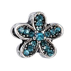 cheap Beads-DIY Jewelry 10 Beads Royal Blue Light Blue Red Pearl Pink Purple Flower Bead 0.45 DIY Bracelet Necklace