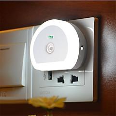 halpa LED-uutuusvalot-YWXLIGHT® 1kpl LED Night Light Valkoinen USB käyttöinen Valaistuksen ohjaus USB-portilla Helppo kantaa