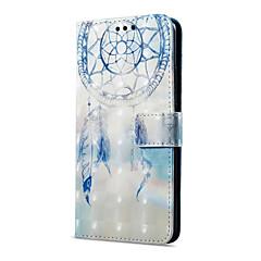 Недорогие Чехлы и кейсы для Huawei Mate-Кейс для Назначение OnePlus Mate 10 pro Mate 10 lite Бумажник для карт Кошелек со стендом Флип Магнитный С узором Чехол Ловец снов Твердый