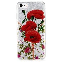 Недорогие Кейсы для iPhone 6-Кейс для Назначение Apple iPhone 6 iPhone 7 С узором Кейс на заднюю панель Слова / выражения Цветы Сияние и блеск Твердый ПК для iPhone 7