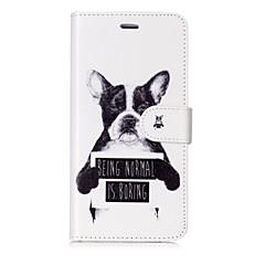 Недорогие Кейсы для iPhone X-Кейс для Назначение Apple iPhone X iPhone 8 Бумажник для карт Кошелек Флип Магнитный С узором Чехол С собакой Слова / выражения Твердый