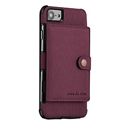 Недорогие Кейсы для iPhone-Кейс для Назначение Apple iPhone X iPhone 8 Кошелек Магнитный Кейс на заднюю панель Сплошной цвет Твердый Кожа PU для iPhone X iPhone 8