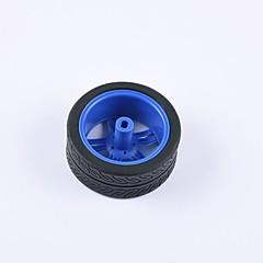 abordables Motores y Partes-cangrejo kingdom® diy coche educativo piezas coche rueda tt neumático del motor 1 unids negro y azul # 3