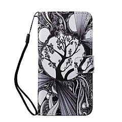 Недорогие Кейсы для iPhone 5-Кейс для Назначение Apple iPhone 8 iPhone 8 Plus Бумажник для карт Кошелек Стразы со стендом С узором Чехол дерево Твердый Кожа PU для