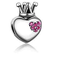 abordables Perlas-Joyería DIY 1 PC Cuentas Diamante Sintético Legierung Fucsia Azul Corazón Talón 0.2 cm DIY Gargantillas Pulseras y Brazaletes