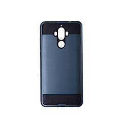 Недорогие Чехлы и кейсы для Huawei Mate-Кейс для Назначение Huawei Mate 9 Защита от удара Чехол Однотонный Твердый ТПУ для Mate 9 / Huawei