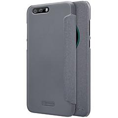 お買い得  その他のケース-ケース 用途 Asus Zenfone 4 ZE554KL カードホルダー ウィンドウ付き フリップ つや消し オートスリープ/ウェイクアップ フルボディーケース 純色 ハード PUレザー のために Asus Zenfone 4 ZE554KL Asus Zenfone 3