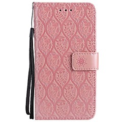 cheap iPhone 6s Cases-Case For Apple iPhone X iPhone 8 Card Holder Wallet with Stand Flip Embossed Full Body Cases Flower Hard PU Leather for iPhone X iPhone 8