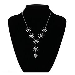 preiswerte Halsketten-Damen Y Halskette - Diamantimitate Blume Klassisch, Elegant Gold, Silber Modische Halsketten Schmuck Für Abiball, Ausgehen