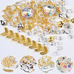 voordelige -nagel sieraden glanzende multi-gekleurde sieraden