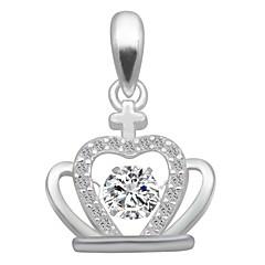 preiswerte Halsketten-Damen Kubikzirkonia Charme / Anhänger - Zirkon, Silber Krone Modisch, Elegant Anhänger Silber Für Geburtstag / Verabredung