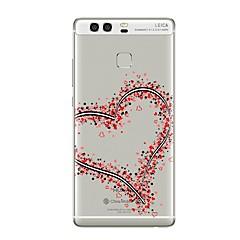 お買い得  Huawei Pシリーズケース/ カバー-ケース 用途 Huawei社P9 Huawei社P9ライト Huawei社P8 Huawei Huawei社P9プラス Huawei社P8ライト P9 P10 クリア パターン バックカバー ハート ソフト TPU のために P10 Plus P10 Lite P10