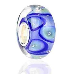 hesapli Boncuklar ve Takı Yapımı-DIY Mücevherat 1 adet Koraliki Renkli Parlatıcı alaşım Mavi Yuvarlak boncuk 0.2 cm DIY Kolyeler Bilezikler