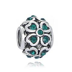 billiga Pärlor och smyckesdesign-DIY Smycken 1 st Pärlor Diamantimitation Legering Vit Grön Rund Pärla 0.2 cm DIY Halsband Armband