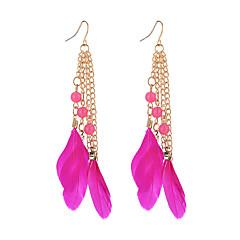 preiswerte Ohrringe-Damen Opal Tropfen-Ohrringe - Opal Feder Modisch Regenbogen / Rosa / Königsblau Für Ausgehen