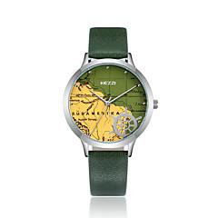 preiswerte Damenuhren-KEZZI Damen Modeuhr Armbanduhr Japanisch Quartz Armbanduhren für den Alltag Cool PU Band Analog Freizeit Schwarz / Weiß / Blau - Kaffee Grün Blau
