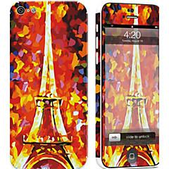 tanie Naklejki na iPhona-1 szt. Naklejka na obudowę na Odporne na zadrapania Wieża Eiffla Wzorki PVC iPhone 5c