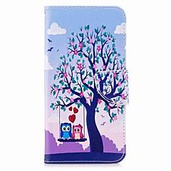 Недорогие Чехлы и кейсы для Xiaomi-Кейс для Назначение Xiaomi Redmi 5 Plus Redmi Примечание 5A Бумажник для карт Кошелек со стендом Флип Магнитный Чехол дерево Сова Твердый