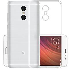 halpa Xiaomi kotelot / kuoret-Etui Käyttötarkoitus Xiaomi Redmi 5 Plus Läpinäkyvä Takakuori Yhtenäinen väri Pehmeä TPU varten Xiaomi Redmi 5 Plus