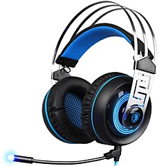 cheap Headsets & Headphones-SADES A7-2 Headband Wired Headphones Dynamic Plastic Gaming Earphone with Microphone Headset