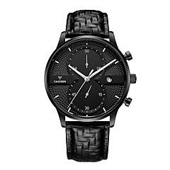 abordables Piel-Hombre Reloj Deportivo Reloj de Pulsera Reloj Casual Chino Cuarzo Calendario Cronógrafo Resistente al Agua Noctilucente Reloj Casual Piel