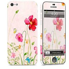 tanie Naklejki na iPhona-1 szt. Naklejka na obudowę na Odporne na zadrapania Kwiaty Wzorki PVC iPhone 5c