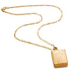 preiswerte Halsketten-Herrn Damen Kristall Anhängerketten - vergoldet Kreuz Modisch Gold Modische Halsketten Schmuck 1 Für Geburtstag, Geschenk