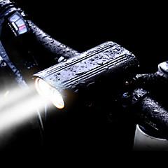 abordables Luces para bicicleta-Luz Frontal para Bicicleta LED Luces para bicicleta LED Ciclismo Resistente al Agua, Kits, Modos múltiples Batería Recargable 2400 lm Batería de Li-batería incorporada Blanco Ciclismo